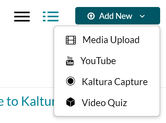 My Media add new options, select media upload
