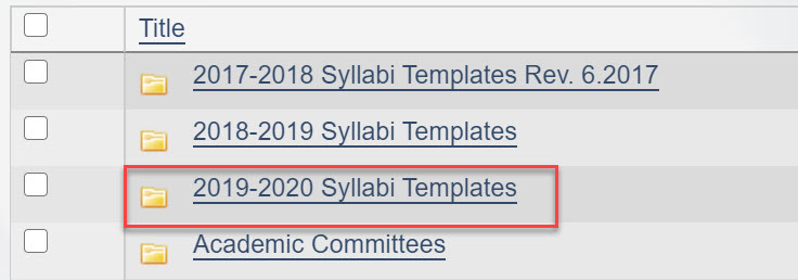 Image with 2018-2019 syllabi templates outlined