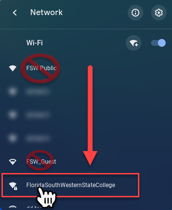 Location of Florida South Western State College SSID