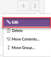 Sub menu location under the kabob icon location