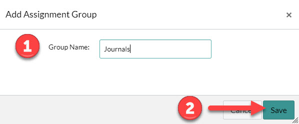 Add Assignment Group window demonstration