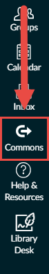 Canvas Commons navigation link image