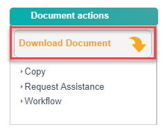 Image with the download document button outlined