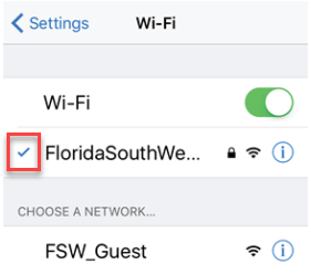 Image showing check mark connected to Wi-Fi