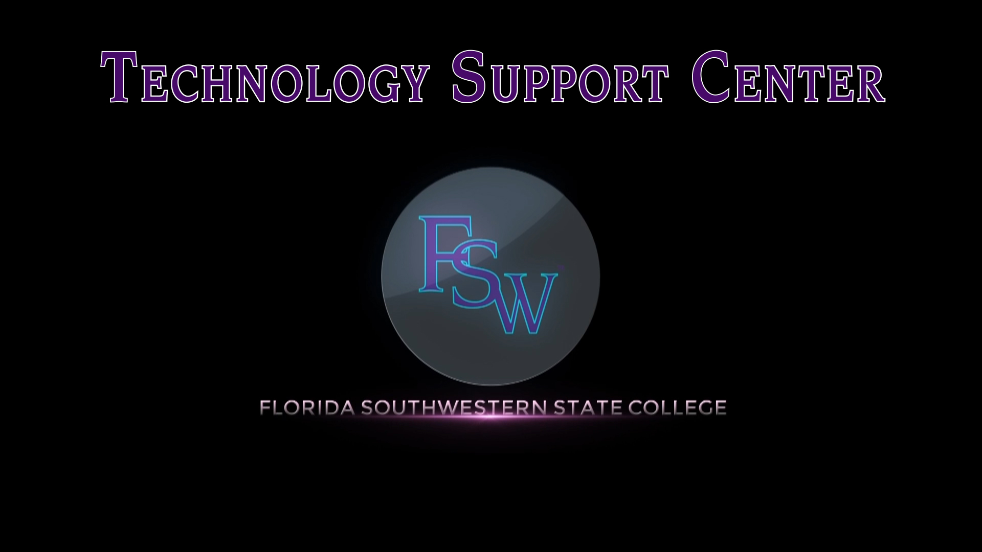 Technology Support Center Image link to overview video
