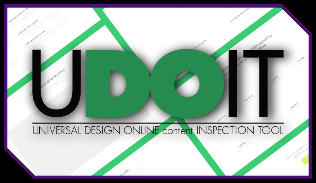 UDOIT - Universal Design Online content Inspection Tool logo.
