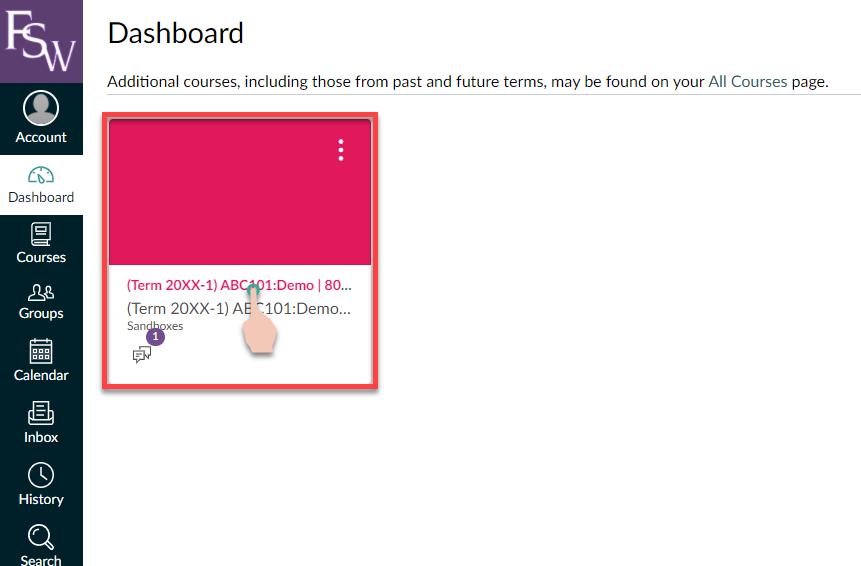 Demo of Canvas Course Dashboard