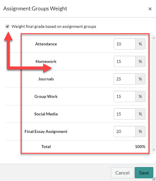 Assignment groups weight full menu image