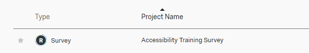 qualtrics project example from list