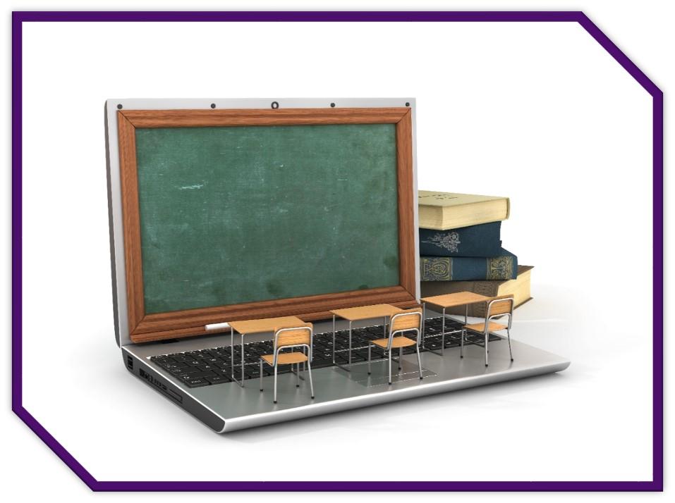 Classroom on a laptop.